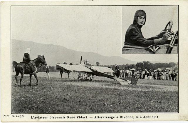 Atterrissage à Divonne le 4 août 1911