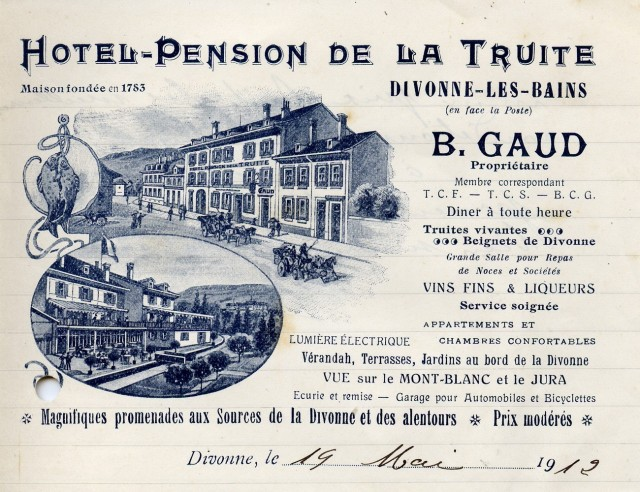 Hôtel-pension de la Truite - carte