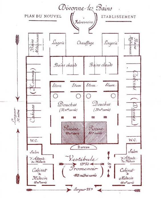 Plan de l'établissement par le dr E. Vidart