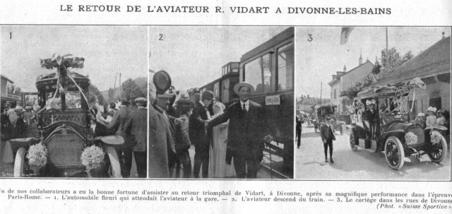 René Vidart descend du train 11 juin 1911