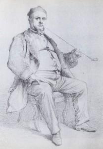 Dr Vidart à la chibouque (1866)