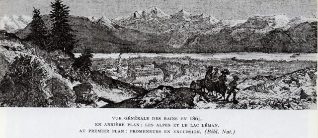 Vue générale des bains en 1865