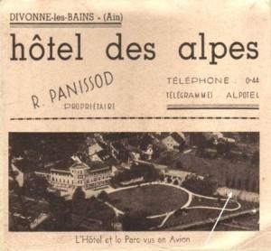 Hôtel des Alpes flyer