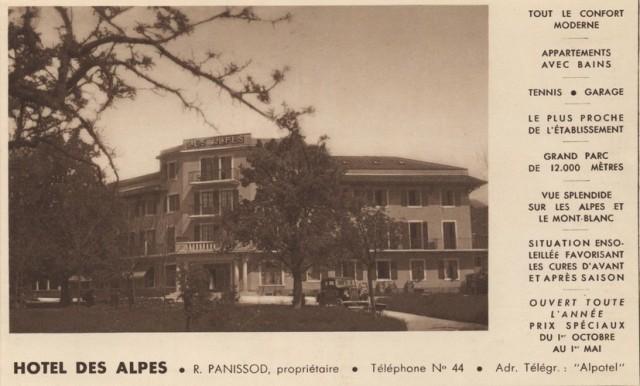 Hôtel des Alpes R. Panissod propriétaire