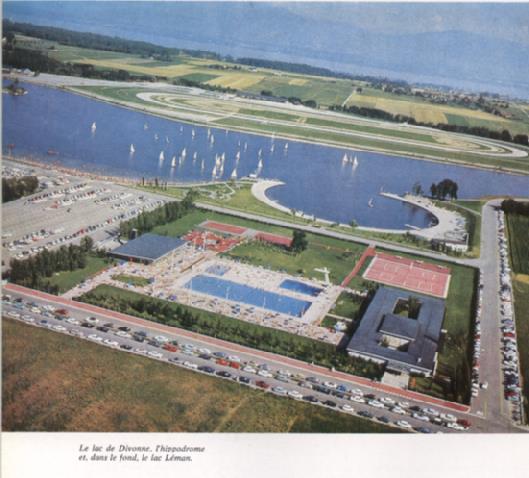 Le lac de Divonne en 1970