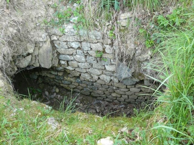 Tronçon visible avenue de l'aqueduc à Divonne