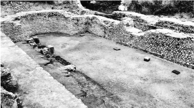 La basilique de Noviodunum, découverte en 1974. Le musée romain de Nyon a été installé dans ses murs.