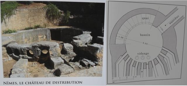 Exemple de château de distribution. L'arrivée de l'aqueduc à Noviodunum était peut-être de ce type.