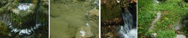 Les sources Barbilène, Emma, Ausone, Vidart après une longue sécheresse. Diminuées, mais pas taries. 18 juillet 2015.