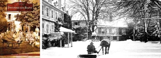 Divonne-les-Bains - Couverture et la cour d'honneur en hiver, photo page 37