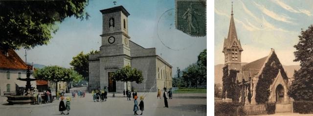 L'église et le temple de Divonne