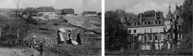 """Hameau de Vésenex et """"Château André"""" à Crassy."""