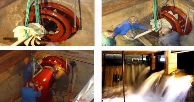 Réinstallation de la turbine