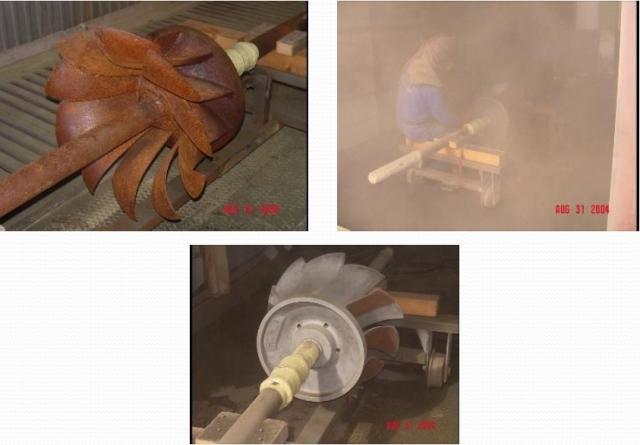 Sablage de la turbine