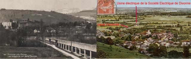 Canal en béton de la Société d'Electricité de Divonne